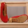 Lenna Square Flex Sandal red